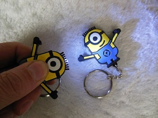 pvc key chain with led/Key chain