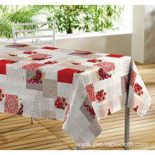 Printed Tablecloth With Non Woven Backing Europe style