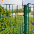 Green PVC Coated Curved Wire Mesh Fence