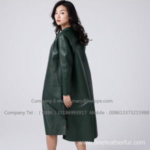 Lady Patent Leather Long Overcoat