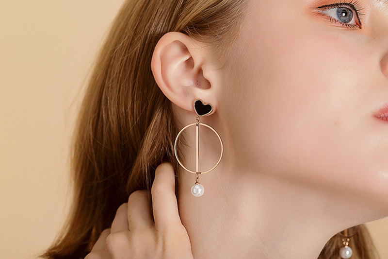 love heart hoop earrings