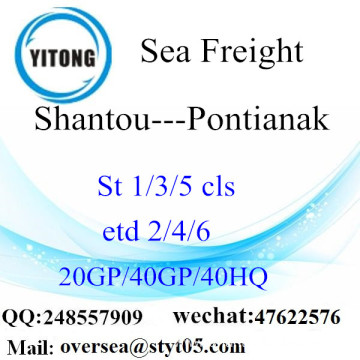 Shantou Port Sea Freight Shipping To Pontianak