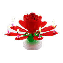 Wholesale huaming lotus magic birthday candle