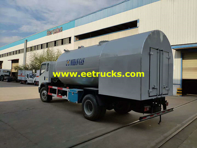 HOWO Propane Dispenser Tanker Trucks