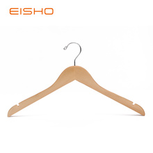 Wholesale Price for Luxury Wooden Hanger EISHO Natural Wooden Shirt Hangers With Notches export to France Exporter