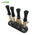 4pcs Titanium Kitchen Rose Gold Cheese Knife