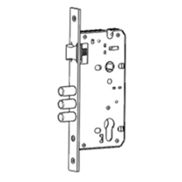 Renewable Design for Latch Bolt And Dead Bolt Mortise Mortise lock with triple round deadbolts and latch supply to Portugal Wholesale