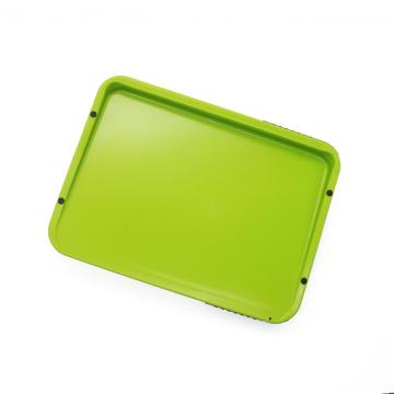 plastic cutting board with knife
