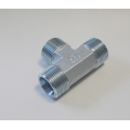 Hydraulic Adaptor BSPP Male Thread Cone Seat Tee