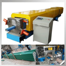 Steel rain gutter downspout roll forming machine