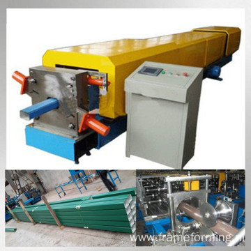 Rain gutter downpipe roll forming machine