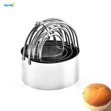 Round Cookies Cutter with Handle 5pcs