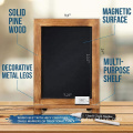 Magnetic 9.5 x 14 inch Torched Pine wood chalkboard