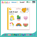Cute blister card 6 pack erasers