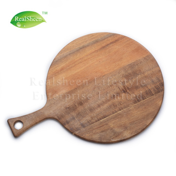 Round Paddle Acacia Wooden Pizza Board