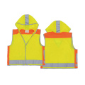 Kids safety vest with cap