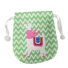 Cute llama portable candy bag