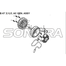 E-07 AC GEN. ASSY XS150T-8  CROX For SYM Spare Part Top Quality