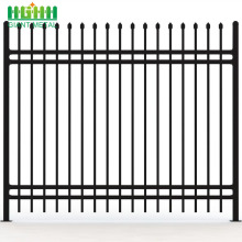 PVC Coated  Wrought Iron Zinc Picket Fence