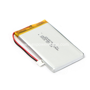 High Performance 654575 3.7V 2500mAh Li Polymer Battery