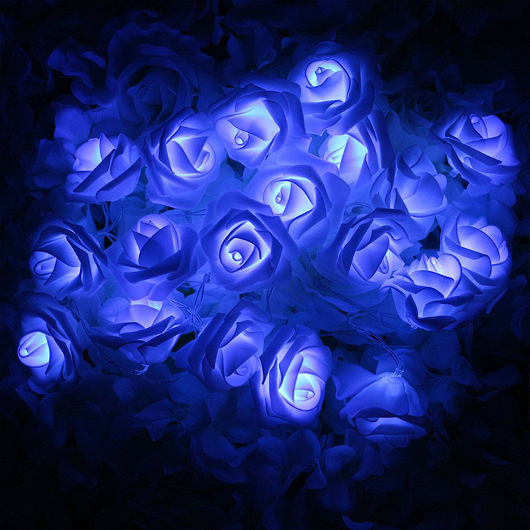 rose flower ce led string light