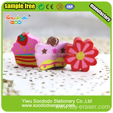 Colorful flat eraser ,school gift stationery