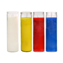 7 Days Clear Glass Jar Paraffin Wax Candles