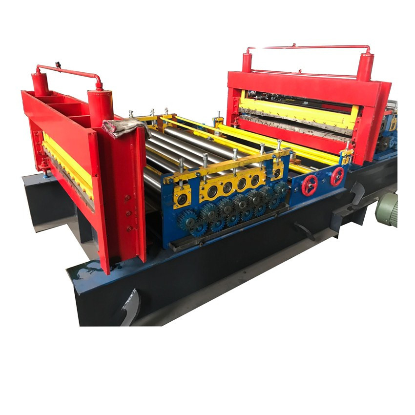 Red metal flattening machine