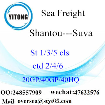 Shantou Port Sea Freight Shipping To Suva