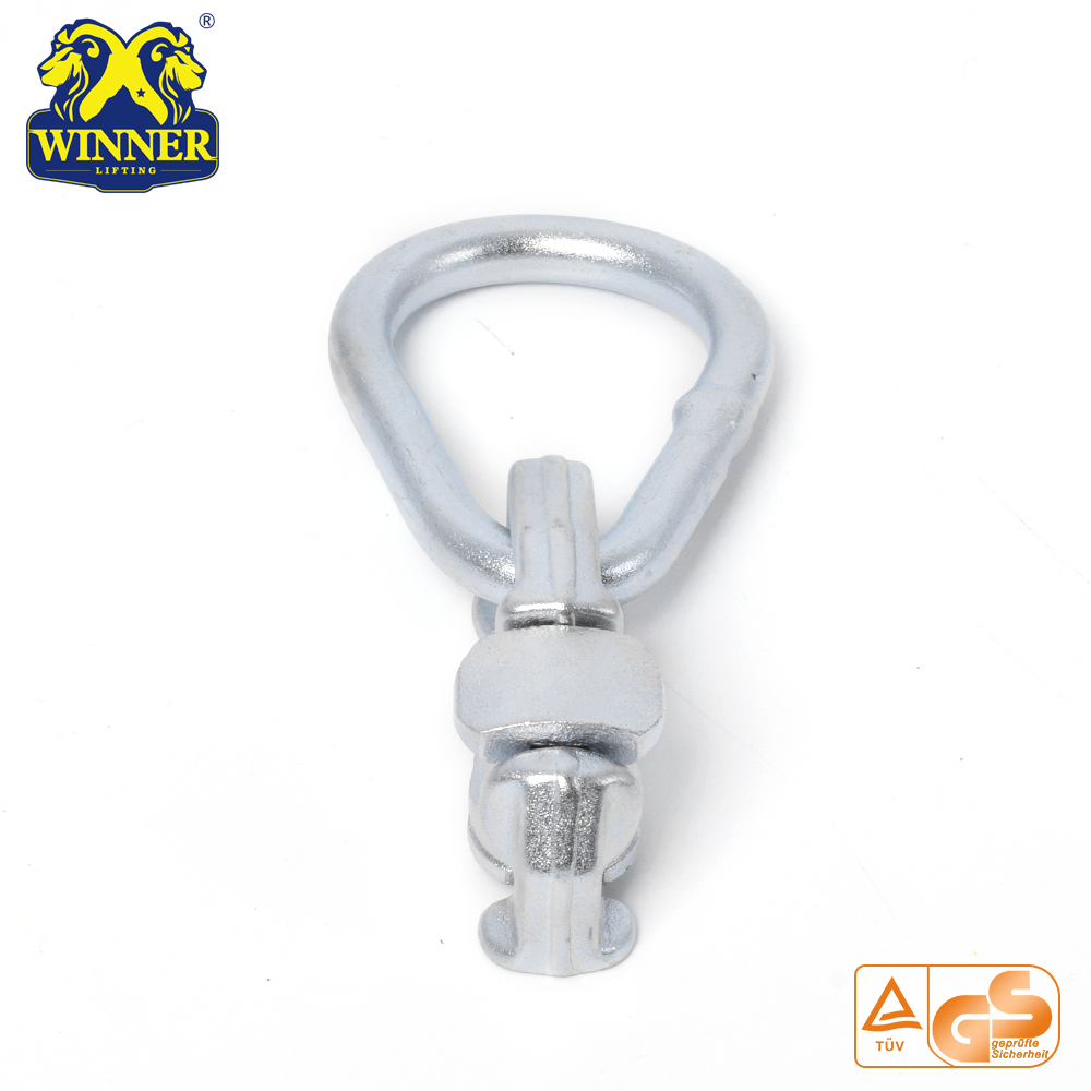 Zinc Plated Factory Price Double Stud Fitting With Oval Ring