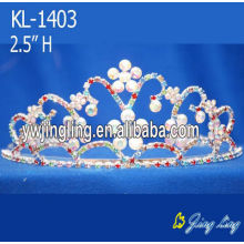 Rhinestone flower wedding tiaras bridal crowns