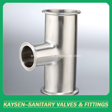 ISO/IDF Sanitary clamped Tee pipe fittings
