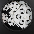 12 Inches Gear Walll Clock With A Circle