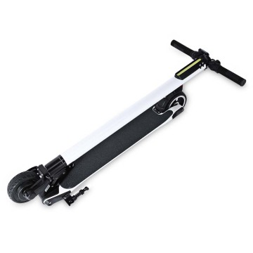 5.5 inch Carbon Fiber White Color Electric Scooter