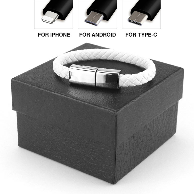 leather usb charger bracelet
