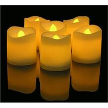 Real paraffin wax led pillar candle for decoration