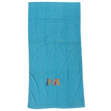Discount Cotton Beach Towels in Blue Color
