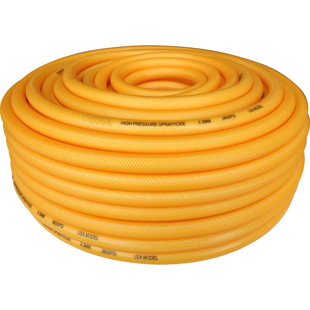 Transparent Yellow Spray Hose