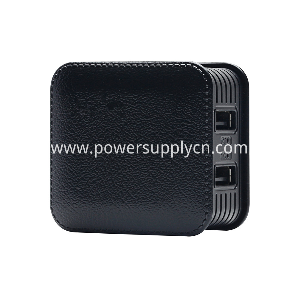 Foldable Imitation Leather Phone Charger