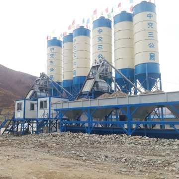 Durable stationary type HZS50 concrete batching plant