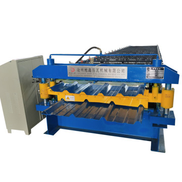 Double sheet metal roof roll forming machine