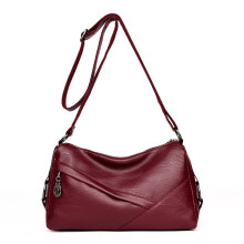 Hot red color fashion bucket lady bags