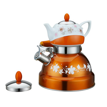 0.75L Tea Pot On Top -Double Tea Pot