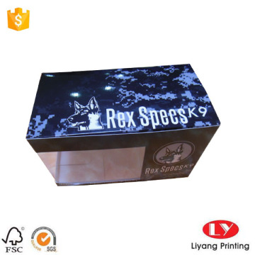 Goggle Packaging Paper Box with Clear Window