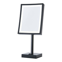 Matte black framed standing mirror