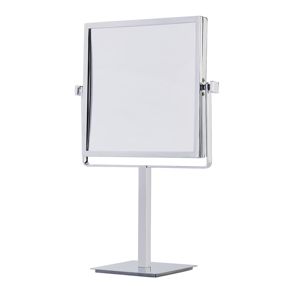 Square magnifying vanity table mirror