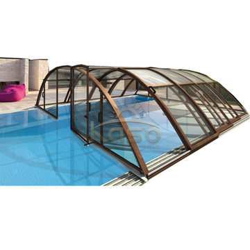 High Quality for Retractable Pool Enclosure Idea Greenhouse Glass Winter Cost Pool Enclosure Design supply to Kuwait Manufacturers
