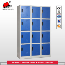 Cheap price for Metal Lockers Blue 3 Lines 12 Doors Steel Locker supply to Maldives Suppliers