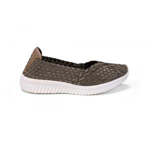 Bronze Lightweight Damping Outsole Casual Woven Pumps