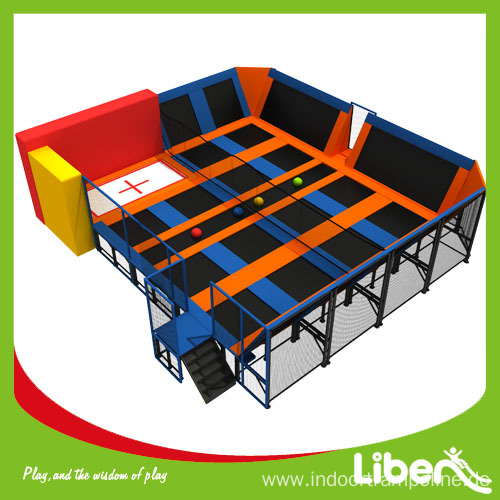 Europe Standard Indoor Trampoline Game with Enclosure